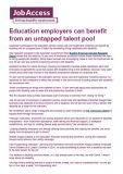 Education employers can benefit from an untapped talent pool cover