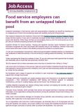 Food service employers can benefit from an untapped talent pool cover