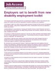 Employers set to benefit from new disability employment toolkit cover image