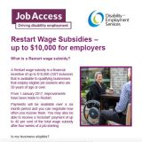 Restart Wage Subsidy cover image